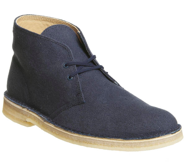 Mens Clarks Clarks Desert Boot Navy Fabric Uk Size 8