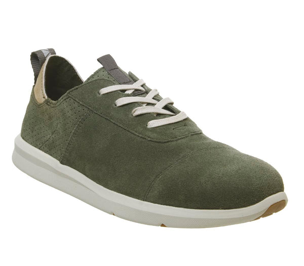 Mens Toms Cabrillo Green Suede