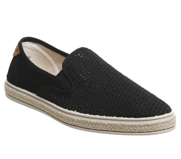 Mens Office Honolulu Espadrille Black