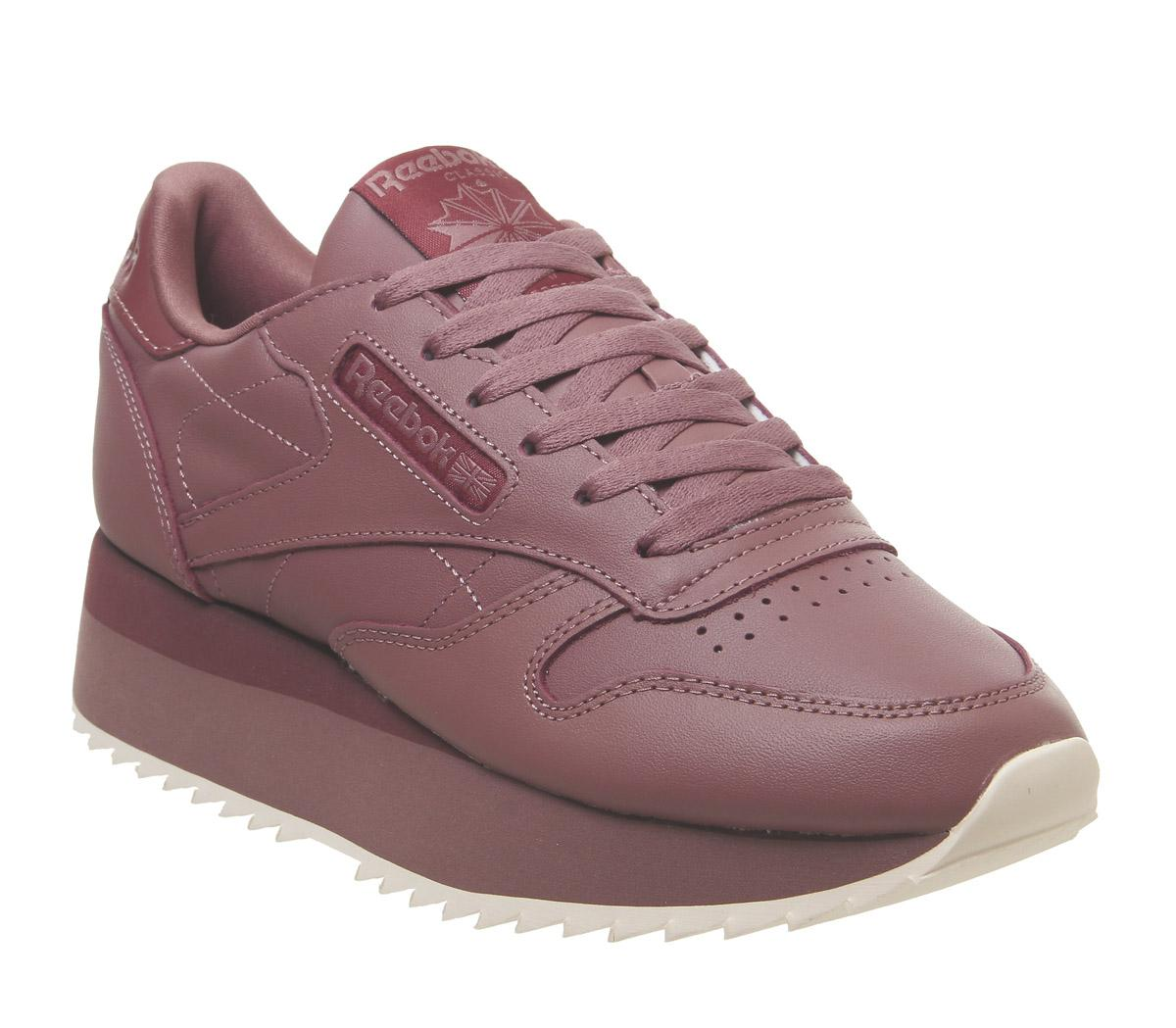 Womens Reebok Classic Leather Bold Parched Earth Mysterious Rose Pink