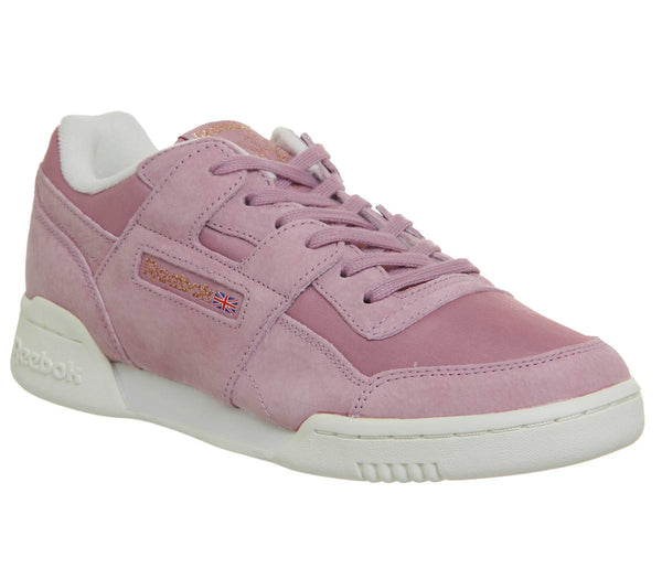 Womens Reebok Workout Lo Plus Infused Lilac Chalk Rose Gold