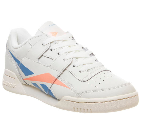 Womens Reebok Workout Lo Plus Chalk Cyan Sunglow F