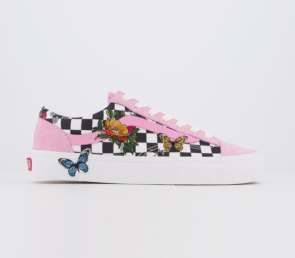 Womens Vans Style 36 Rosebloom Multi Marshmallow Floral Checkerboard Uk Size 4
