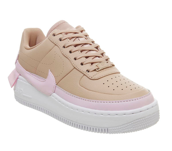 Womens Nike Air Force 1 Jester Bio Beige Pink Force White Uk Size 5.5