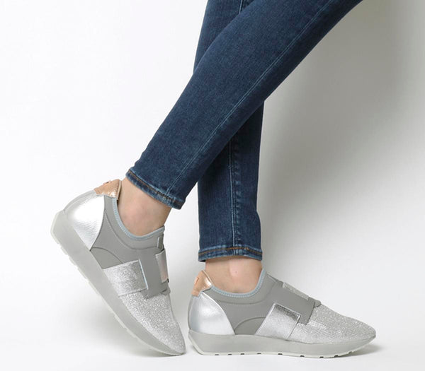 Womens Ted Baker Harqcen Runner Light Grey Suede