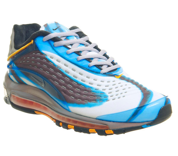 Womens Nike Air Max Deluxe Photo Blue Wolf Grey Orange Peel Black Uk Size 6