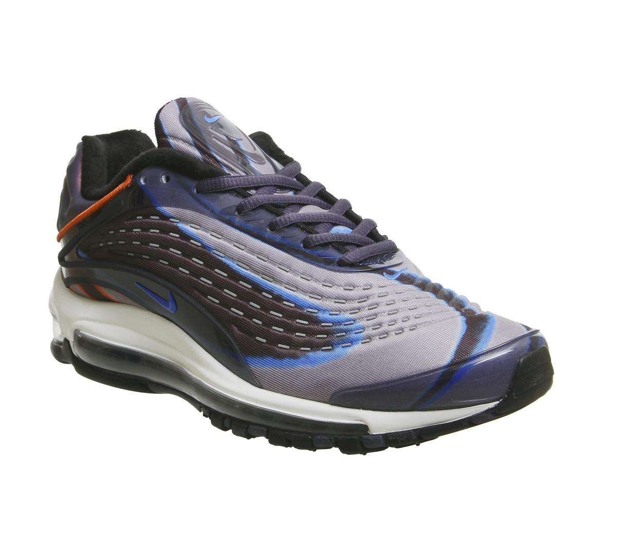 Womens Nike Air Max Deluxe Thunder Blue Photo Blue Dark Russet Black
