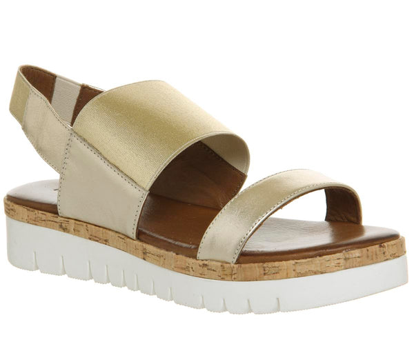 Womens Inuovo Sling Back Sandal Gold