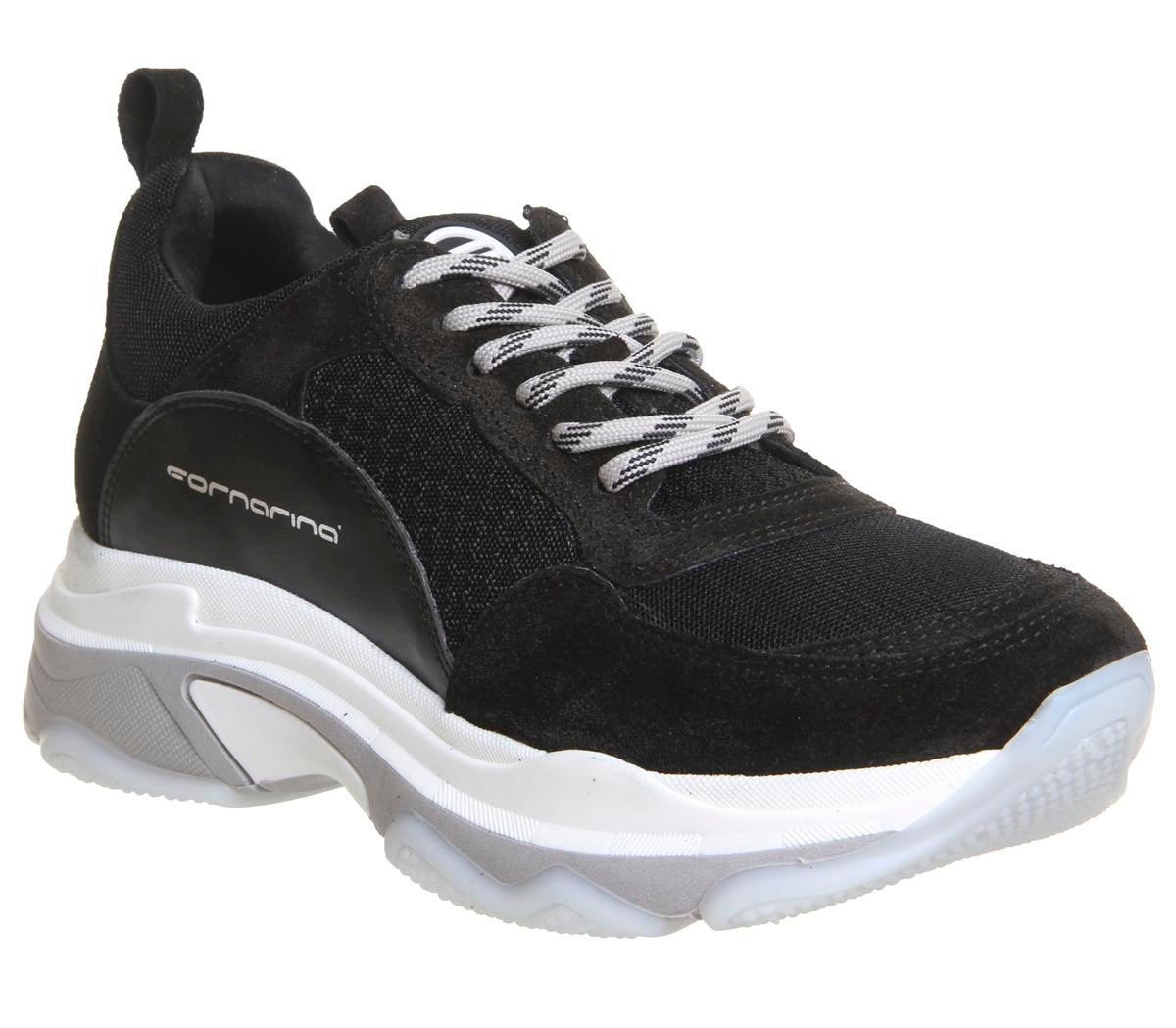 Womens Fornarina Super Sneaker Black