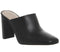 Womens Office Machine Mule With Sprayed Heel Black Leather