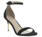 Womens Office Motive Two Part Cigarette Heel Sandal Black Nubuck