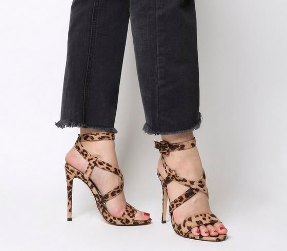 Womens Office Hampstead Strappy Single Sole Sandal Leopard
