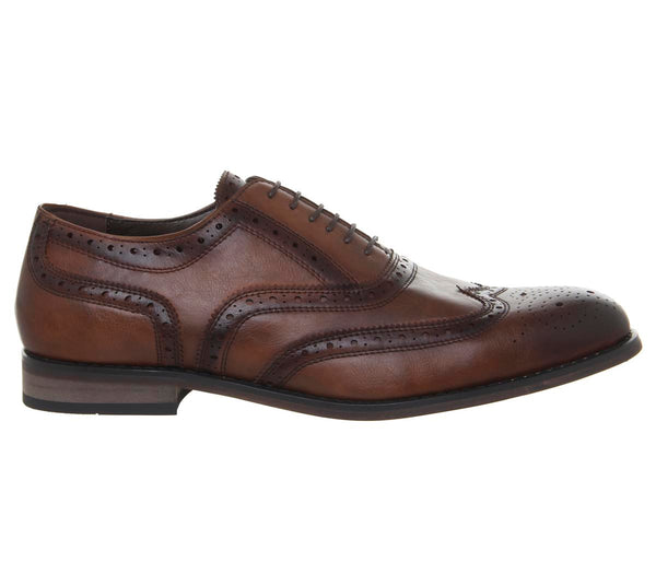 Mens Office Income Brogues Choc