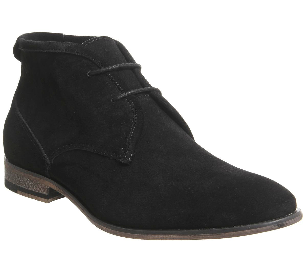 Mens Office Impact Chukka Black Suede