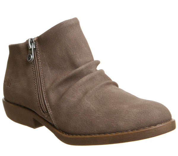 Womens Blowfish Allie Ankle Boot Mushroom Rustic Faux