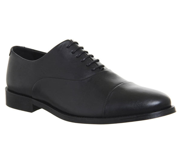 Mens Office Office Classics Oxford Black Leather