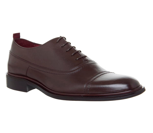 Mens Office Impegno Oxford Choc Leather Uk Size 10