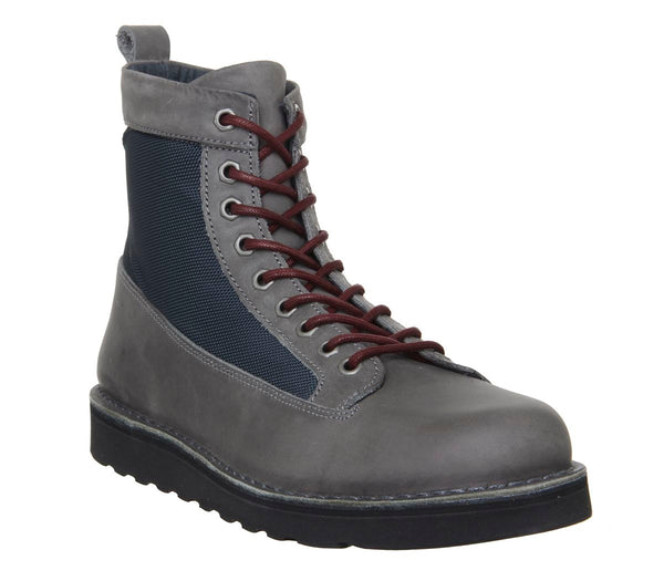 Ask the Missus Incline Hiker Boots Grey Leather