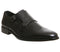 Mens Office Import Brogue Monk Black Leather