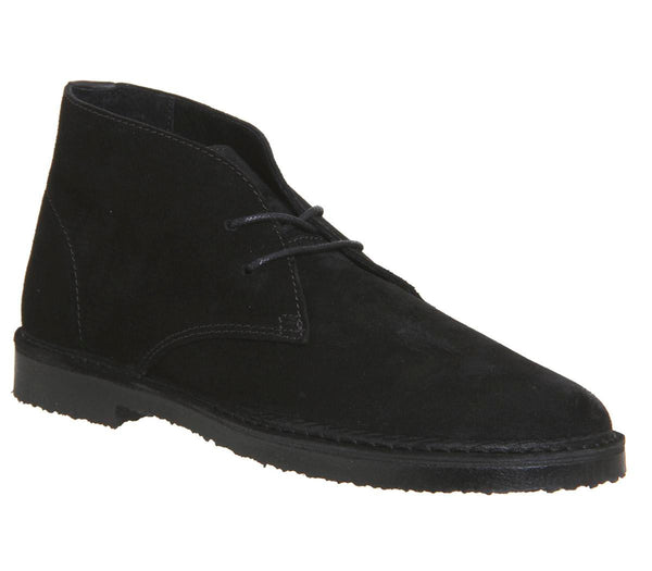 Mens Office Inferno Desert Boot Black Suede Uk Size 9