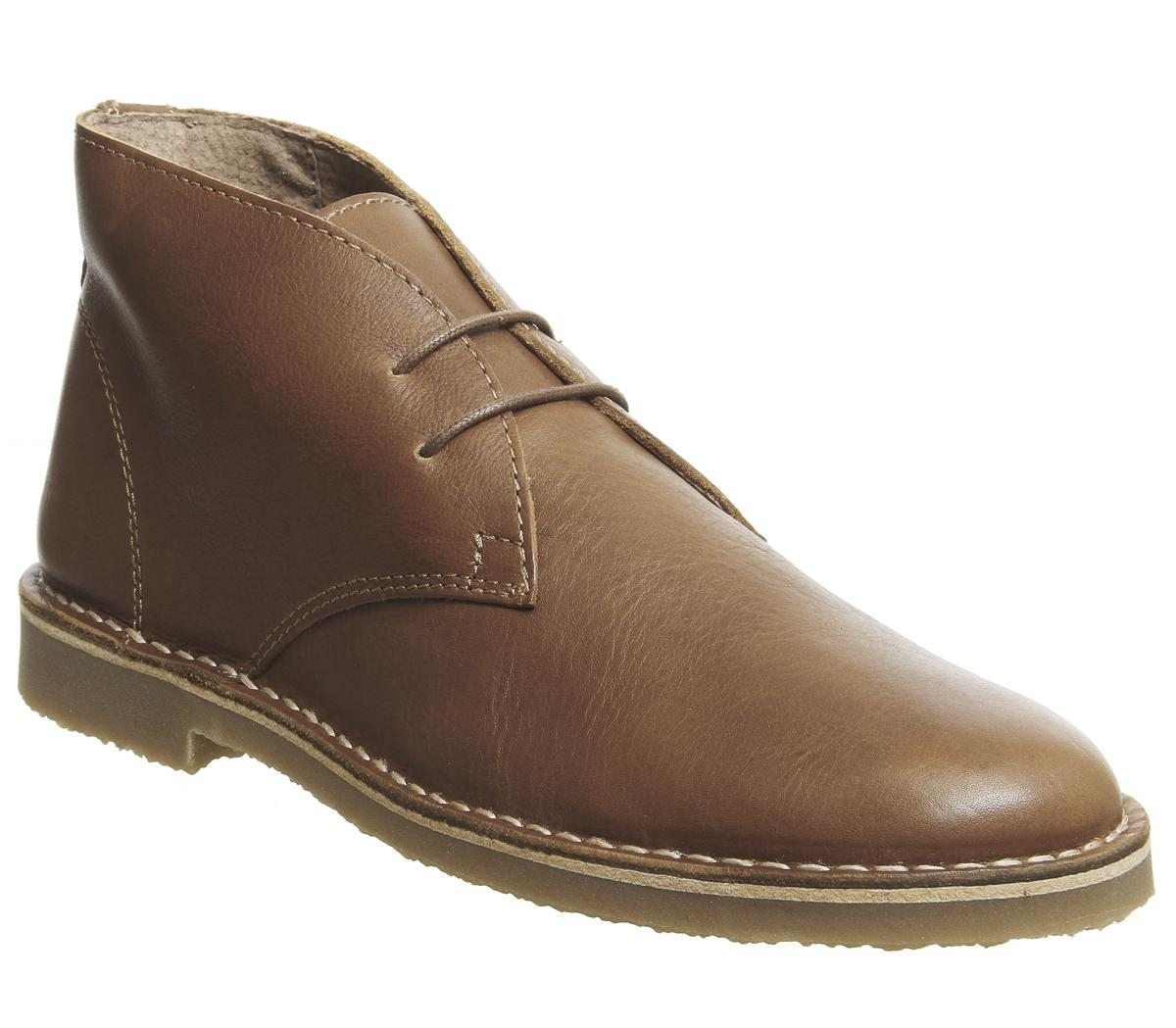 Mens Office Inferno Desert Boot Tan Leather