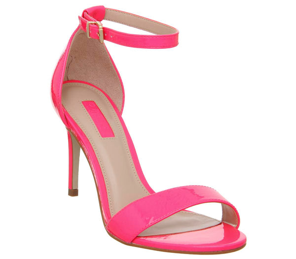 Womens Office Mimosa Two Part Mid Sandal Neon Pink
