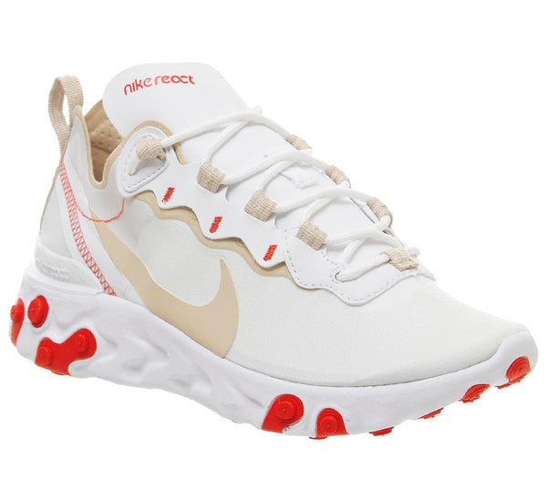 Womens Nike Element React 55 White Desert Ore White Ember Glow Uk Size 5
