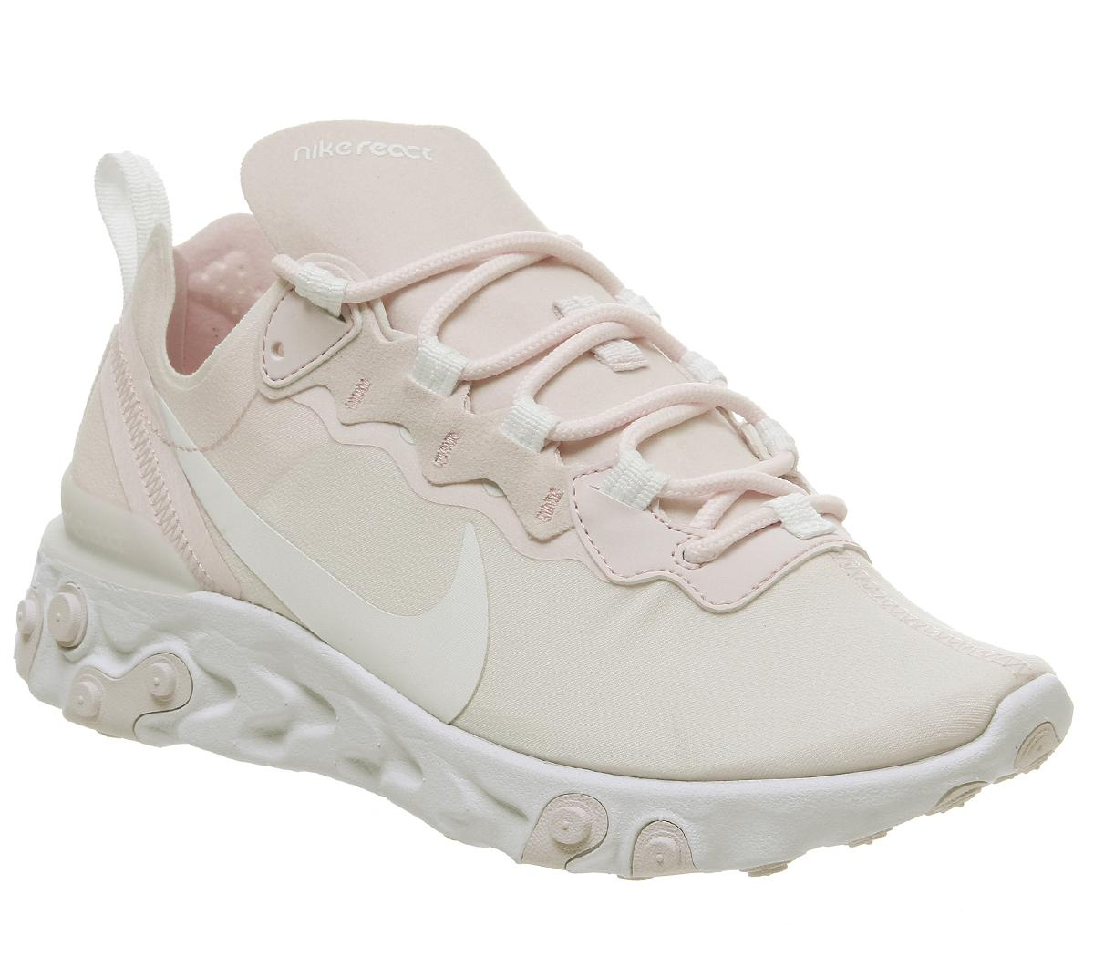 Womens Nike Element React 55 Pale Pink White White Pale Pink F