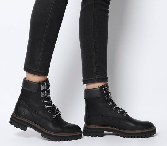 Womens Timberland London Square 6 Inch Boot Jet Black Mincio