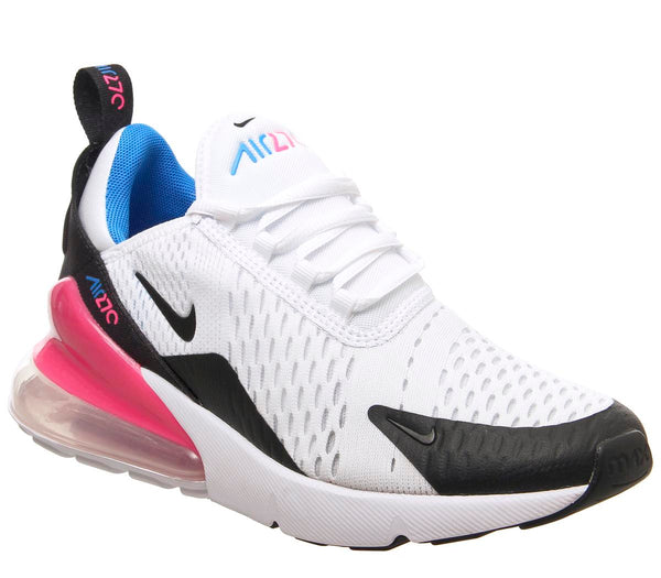 Womens Nike Air Max 270 Gs White Black Hyper Pink Photo Blue