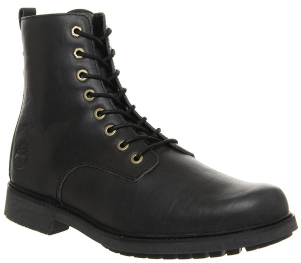 Odd Sizes - Mens Timberland Lux Lace Up Boots Black Leather UK Sizes R8/L9