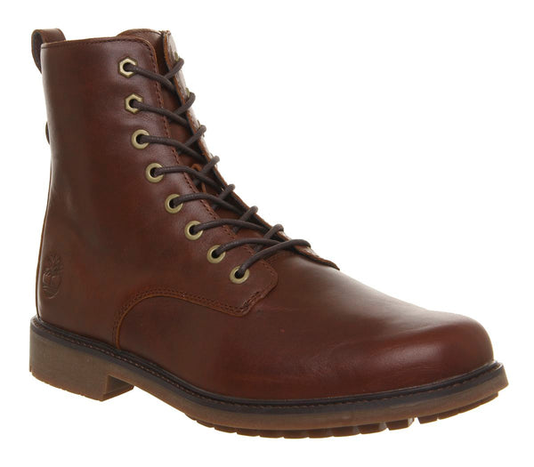 Mens Timberland Lux Lace Up Boots Brown Leather