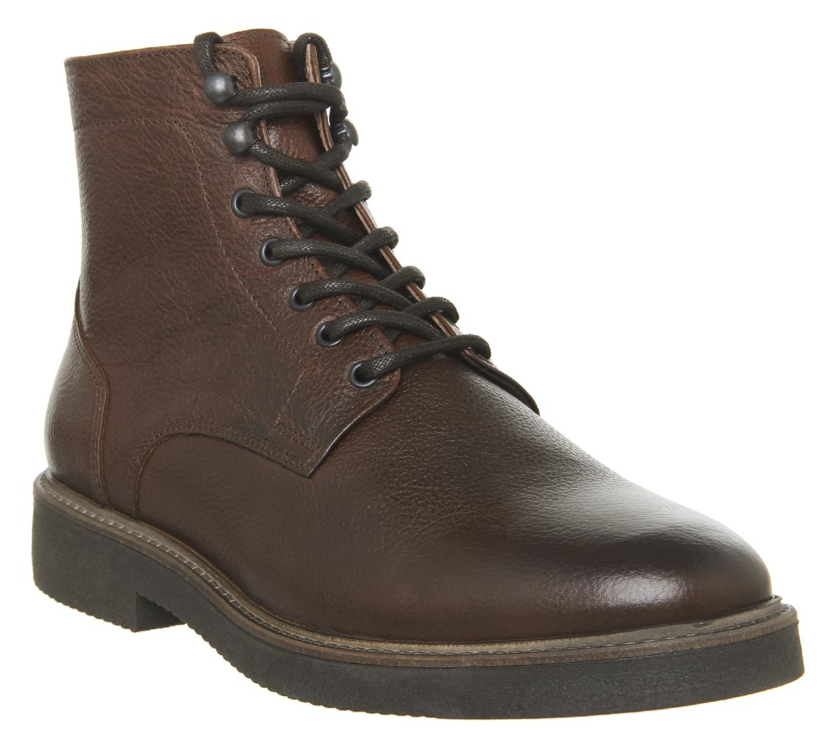 Mens Office Immaculate Lace Boot Tan Leather