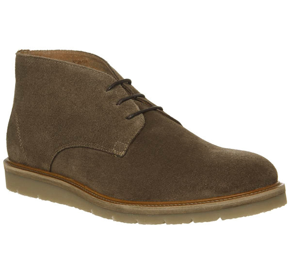 Mens Office Inch Wedge Chukka Taupe Suede Uk Size 10
