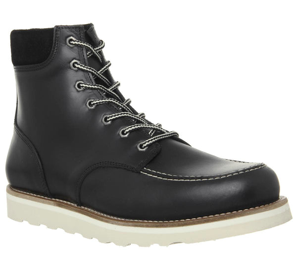 Mens Office Immerse Lace Boot Black Leather