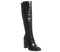 Womens Office Kirby Smart Block Heel Knee Boot Black Leather