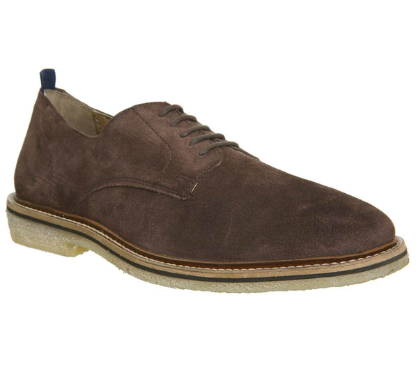 Mens Walk London Darcy Crepe Brown Suede