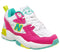 Womens New Balance 608 White Fuschia Pink Lime Green