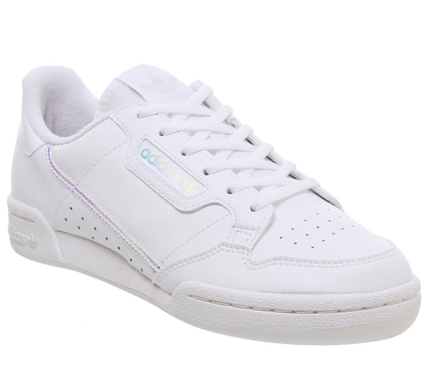 Kids Adidas Continental 80's Jnr White Iridescent