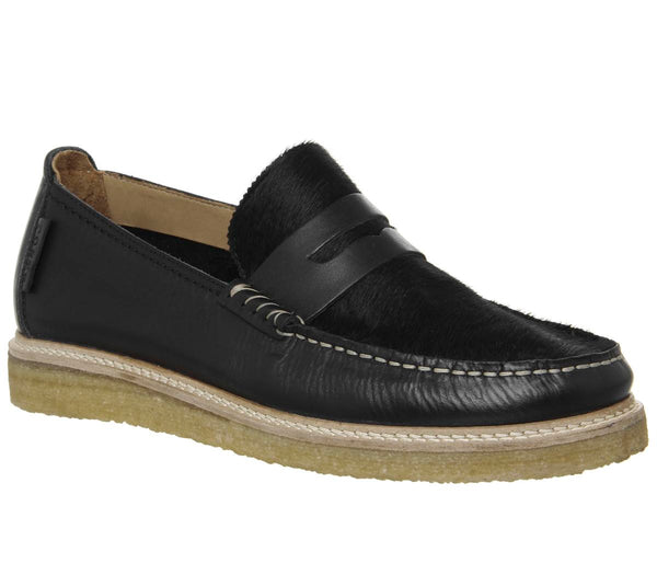 Mens Office Poste For Offspring Loafer Coal Leather