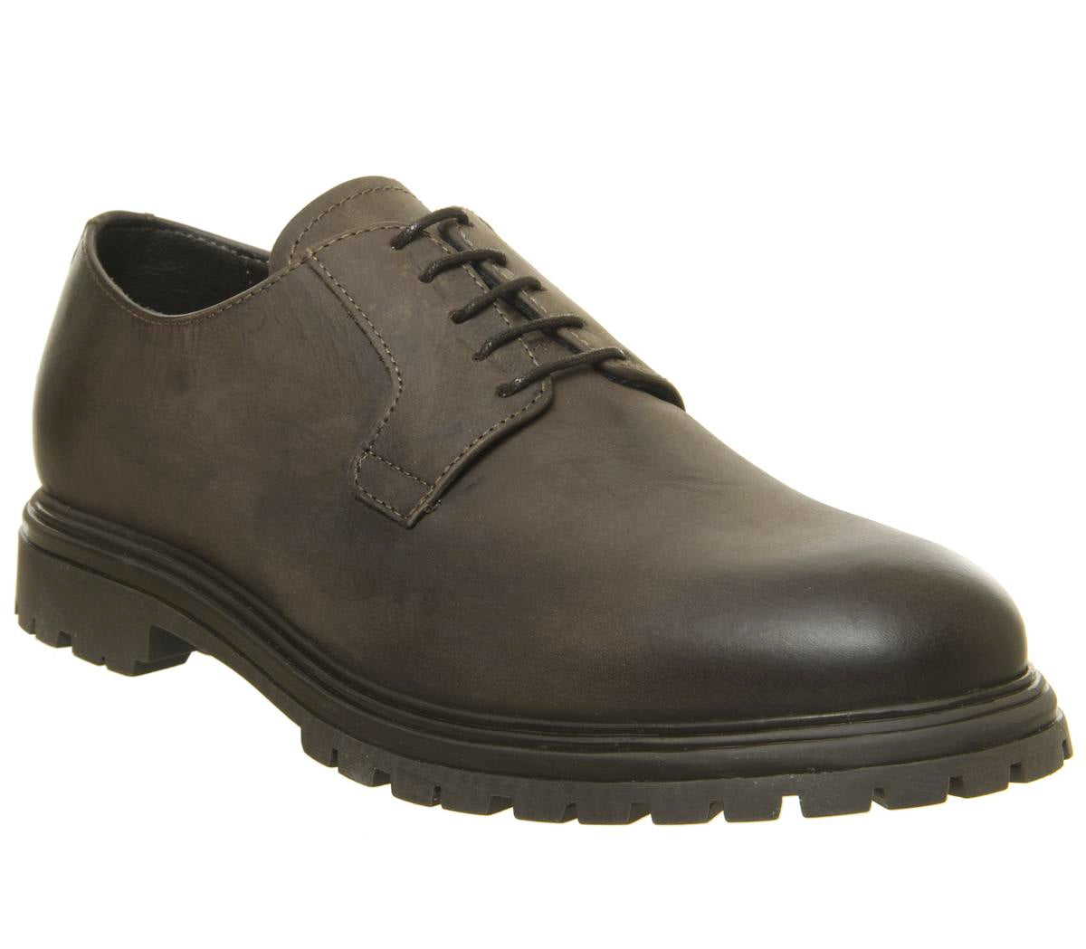 Mens Office Innovate Derby Choc Leather