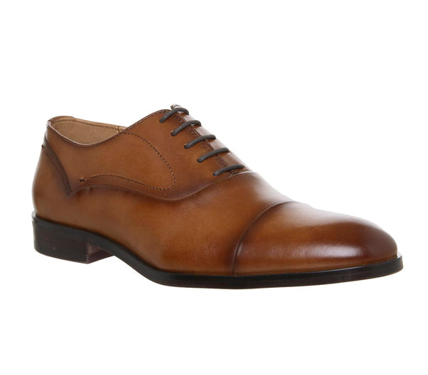 Mens Office Invent Oxford Toecap Tan Leather