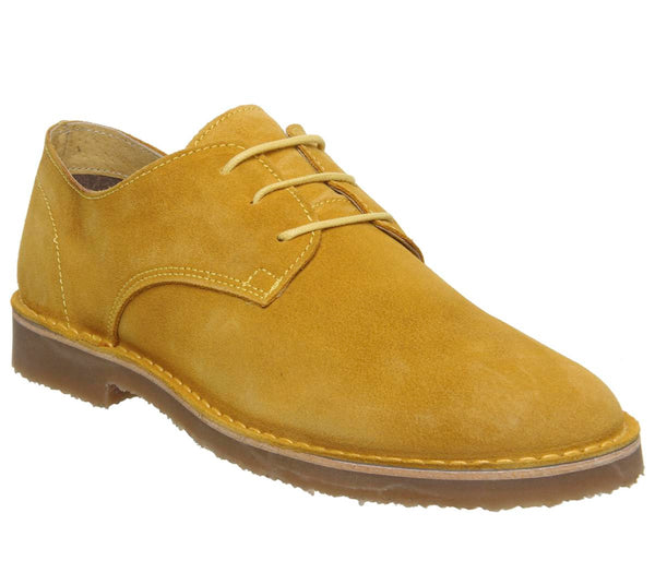 Mens Office Inferno Desert Shoe Mustard Suede Uk Size 10