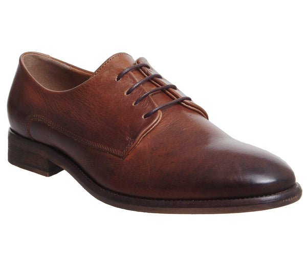 Mens Ask the Missus Inflame Derby Shoes Tan Leather