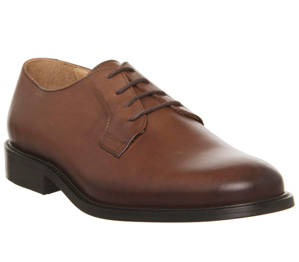 Mens Office Immune Derby Cognac Leather