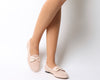Womens Office Lettie Bow Front Loafer Nude Suede Flats