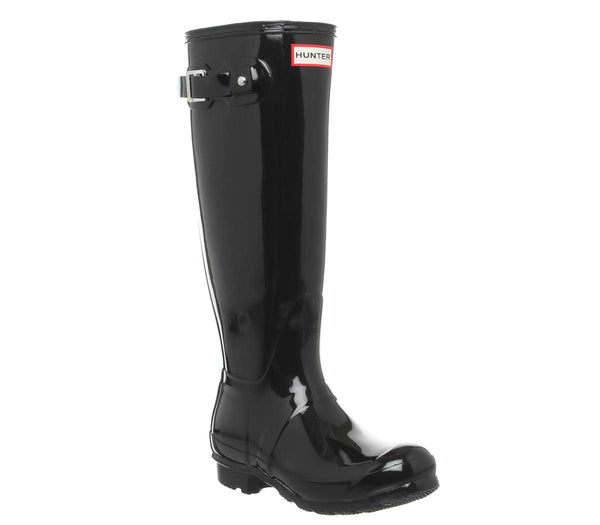 Womens Hunter Womens Original Tall Gloss Black Gloss