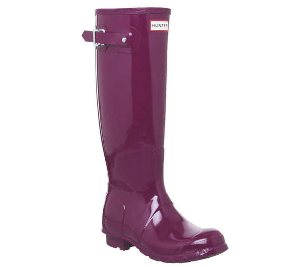 Womens Hunter Womens Original Tall Gloss Violet