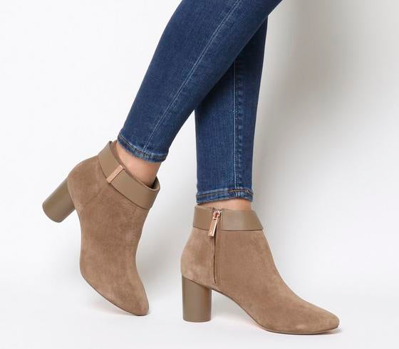 Womens Ted Baker Mharia Ankle Boot Tan