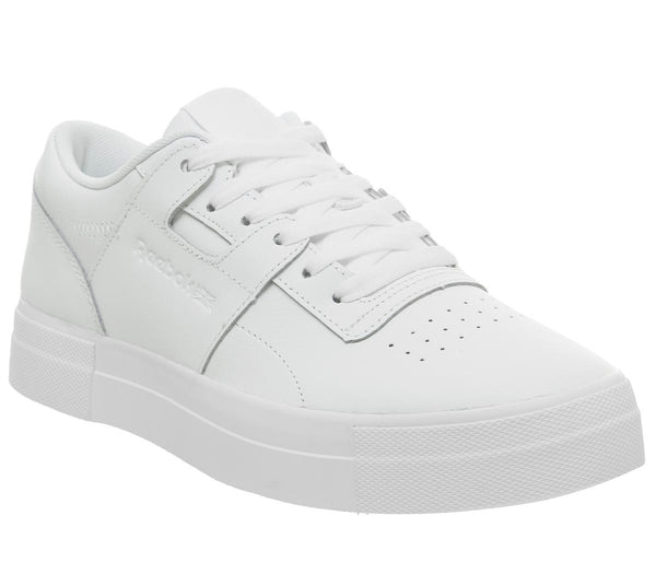Womens Reebok Workout Lo Fvs Basic White Skull Grey
